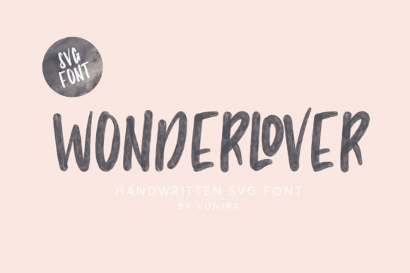Print on Demand: Wonderlover Script & Handwritten Font By Vunira