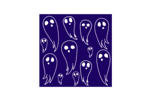 Ghost Pattern Halloween Craft Cut File By Creative Fabrica Crafts