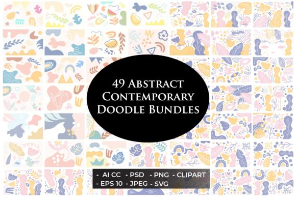 49 Contemporary Doodles Bundles Set Graphic Illustrations By griyolabs