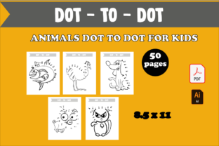 50 Animals Dot to Dot Activity for Kids Graphic KDP Interiors By KDP_DESIGN