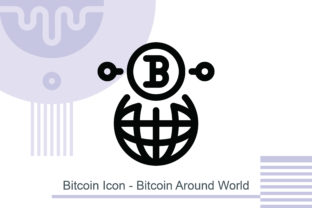 Bitcoin Icon - Bitcoin Around World Graphic Icons By MelindAgency