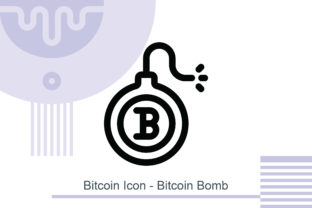 Bitcoin Icon - Bitcoin Bomb Graphic Icons By MelindAgency