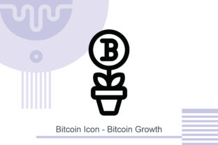Bitcoin Icon - Bitcoin Growth Graphic Icons By MelindAgency