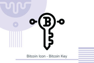 Bitcoin Icon - Bitcoin Key Graphic Icons By MelindAgency