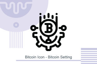 Bitcoin Icon - Bitcoin Setting Graphic Icons By MelindAgency
