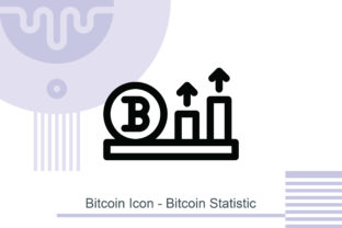 Bitcoin Icon - Bitcoin Statistic Graphic Icons By MelindAgency