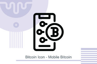 Bitcoin Icon - Mobile Bitcoin Graphic Icons By MelindAgency