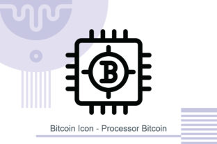 Bitcoin Icon - Processor Bitcoin Graphic Icons By MelindAgency