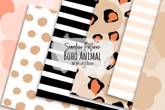 Print on Demand: Boho Animal Seamless Patterns Graphic Patterns By loyaarts