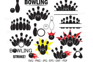Bowling Strike Monogram, Bowling Bundle Graphic Crafts By RedCreations
