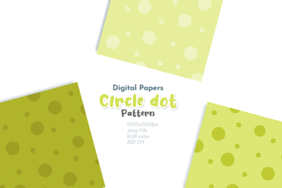 Print on Demand: Circle Dot Digital Paper Graphic Backgrounds By Broc Simple