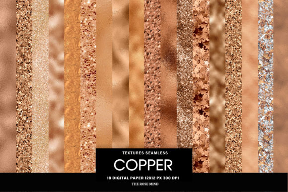 Print on Demand: Copper Seamless Textures Graphic Textures By The Rose Mind