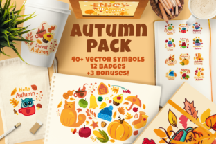 Print on Demand: Cozy Autumn Pack Graphic Objects By barsrsind