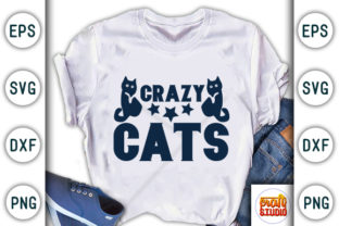 Print on Demand: Crazy Cats Graphic Print Templates By CraftStudio