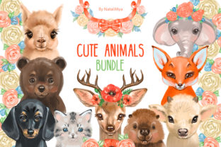 Cute Animals Bundle Graphic Illustrations By NataliMyaStore