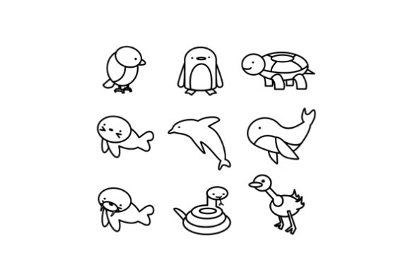 Cute Animals Coloring Page Graphic Coloring Pages & Books Kids By Centtaro_product