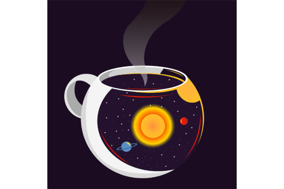 Dream in Your Cup. Graphic Illustrations By Sasha_Brazhnik