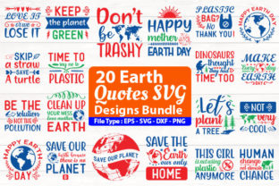 Print on Demand: Earth Quotes Design Bundle Graphic Print Templates By Design Store