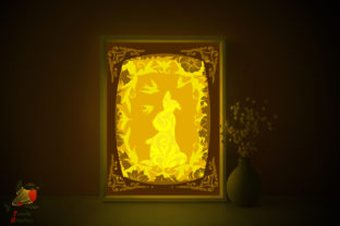 Easter Rabbit Shadow Box Template Graphic 3D Shadow Box By SweetieGraphics