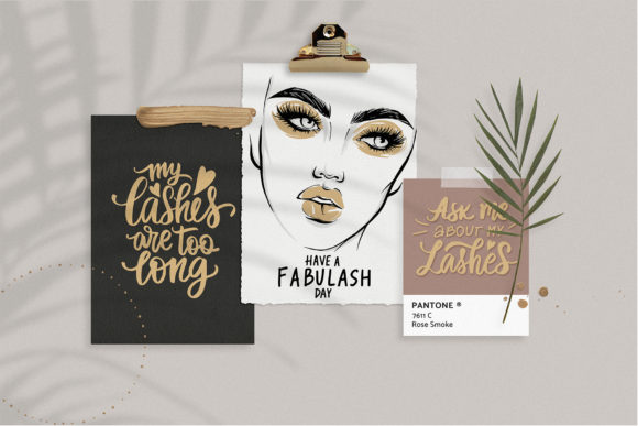 Fashion, Makeup, Lashes, Girls! Graphic Illustrations By yana26789