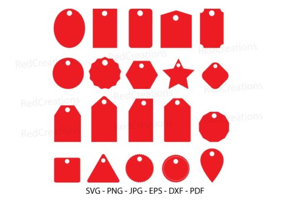Gift Tags - Price Tags Clipart Graphic Crafts By RedCreations