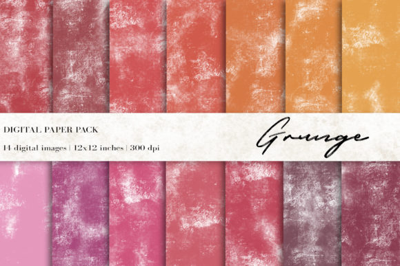 Grunge Digital Papers, Grunge Background Graphic Backgrounds By BonaDesigns