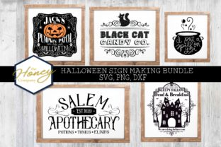 Halloween Sign Bundle Graphic Crafts By The Honey Company