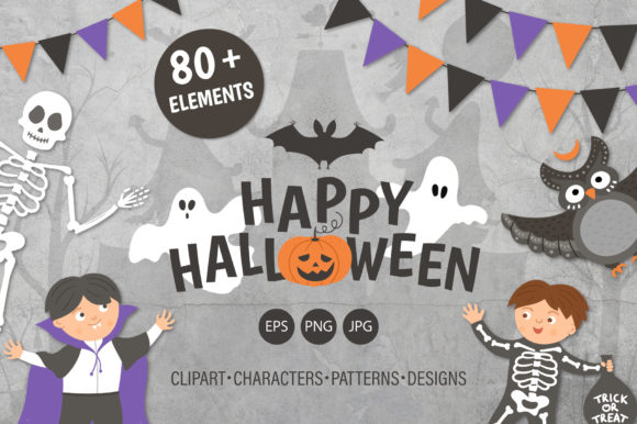 Happy Halloween Collection Graphic Illustrations By lexiclaus