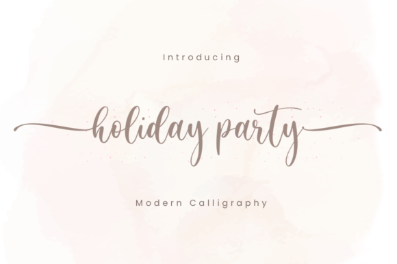 Print on Demand: Holiday Party Script & Handwritten Font By Sronstudio