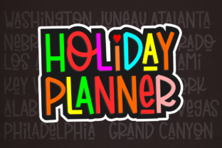 Print on Demand: Holiday Planner Display Font By deedeetype