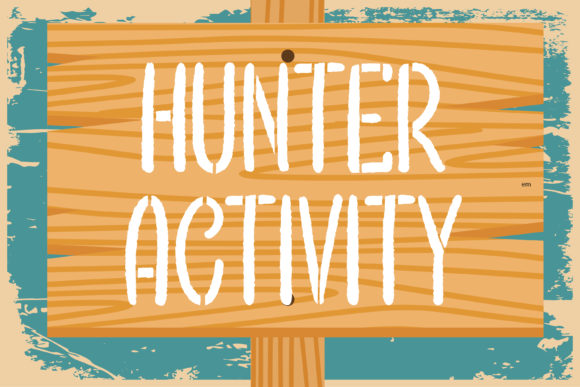 Print on Demand: Hunter Activity Display Font By Typefar