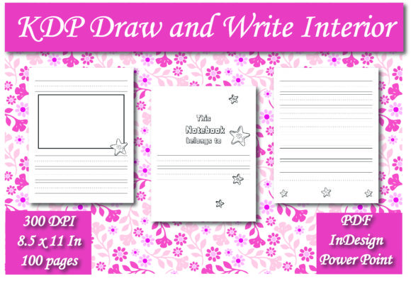 Print on Demand: KDP Draw and Write Journal Interior Graphic KDP Interiors By Ivana Prue