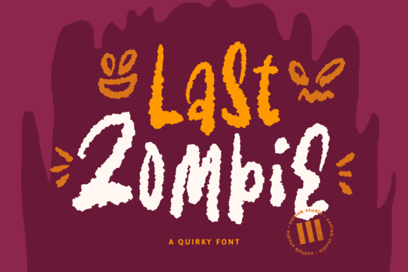 Print on Demand: Last Zombie Display Font By colllabstudio