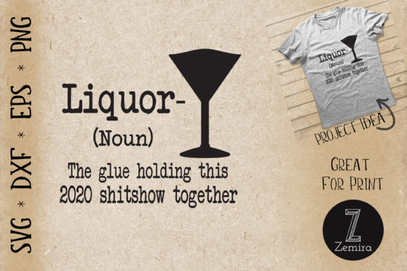 Print on Demand: Liquor Funny Definition Graphic Print Templates By Zemira
