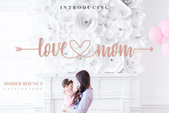 Print on Demand: Love Mom Script & Handwritten Font By Letterfand.Studio