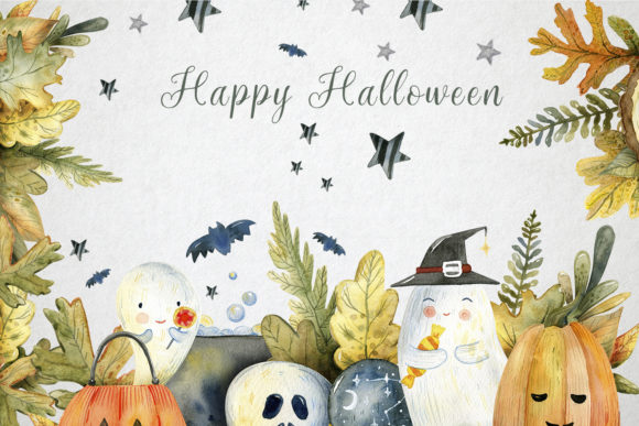 Magical Halloween Watercolor Graphic