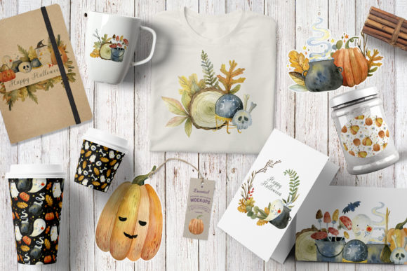 Magical Halloween Watercolor Graphic Item