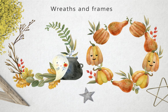 Magical Halloween Watercolor Graphic Popular Design