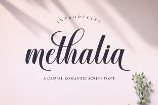 Print on Demand: Methalia Script & Handwritten Font By Romie Creative