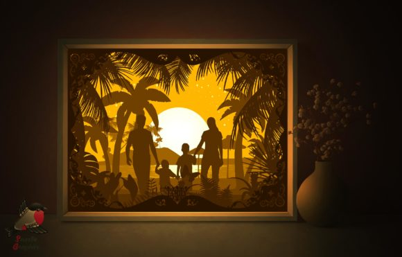 Mother's Father's Day Gift Shadow Box Graphic 3D Shadow Box By SweetieGraphics