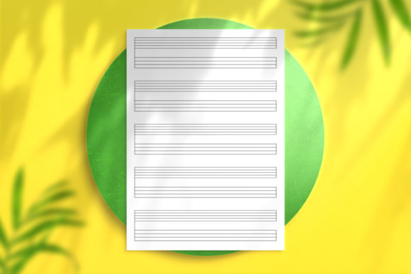 Music Paper Staff and Tablature Graphic KDP Interiors By Nickkey Nick