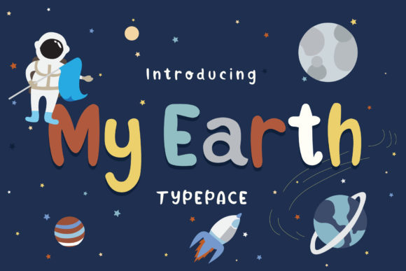 Print on Demand: My Earth Display Schriftarten von Alit Design