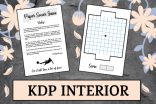 Print on Demand: Paper Soccer Game | KDP Interior Graphic KDP Interiors By KDP Mastermind