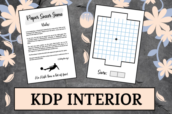 Print on Demand: Paper Soccer Game   KDP Interior Graphic KDP Interiors By KDP Mastermind
