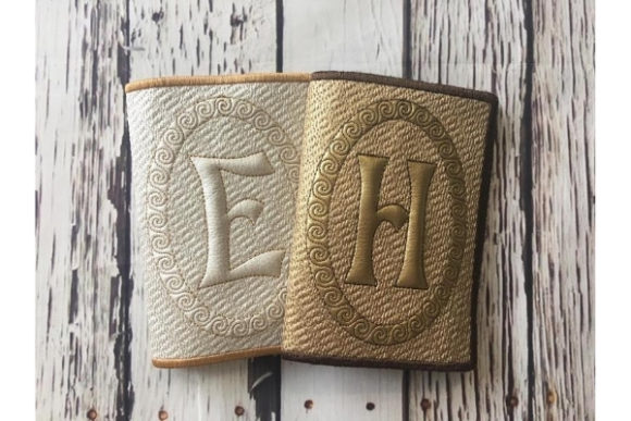 Passport Cover with Letter in the Hoop Sewing & Crafts Embroidery Design By ImilovaCreations - Image 2