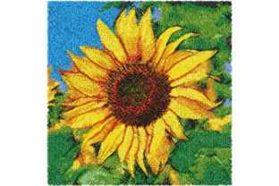 Photo Stitch Sunflower Single Flowers & Plants Embroidery Design By ImilovaCreations