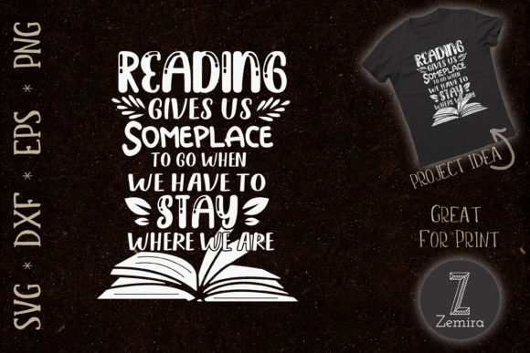 Print on Demand: Reading Book Lover Library Graphic Print Templates By Zemira