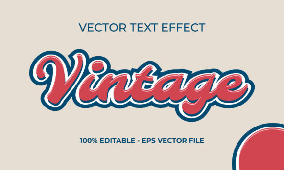 Red Vintage Text Effect Graphic Scene Generators By Applesix