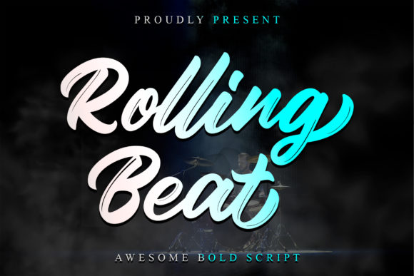 Print on Demand: Rolling Beat Script & Handwritten Font By thomasaradea