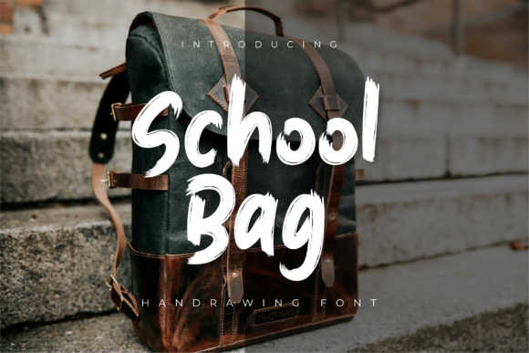Print on Demand: School Bag Display Font By Productype